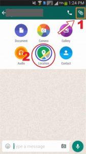 Pengaturan WhatsApp Share Lokasi Whatsapp