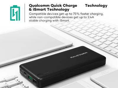 Aukey 16.000 mAh Quick Charge 3.0 Power Bank