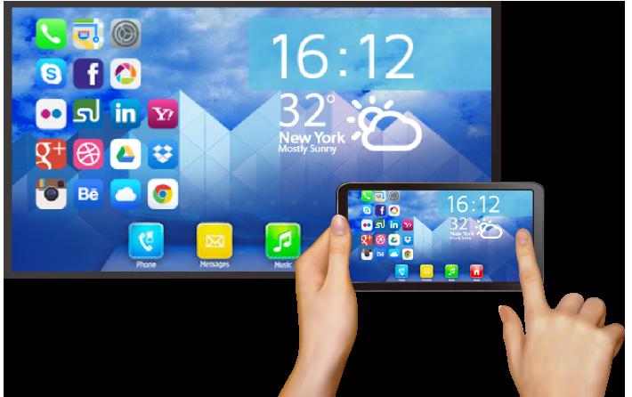 Menampilkan layar smartphone di komputer