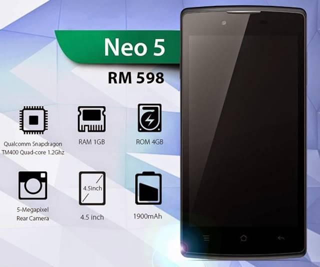 oppo neo 5, Hp Oppo Dibawah 1 Juta, HP Oppo Murah, HP Android Murah,