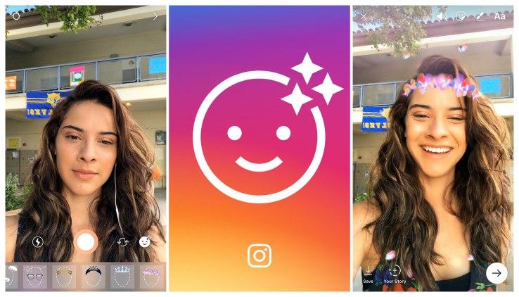 cara menggunakan filter wajah instagram