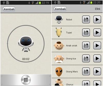 Aplikasi Voice Changer (Androbaby)