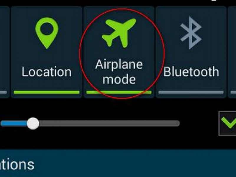 Aktifkan Mode Penerbangan