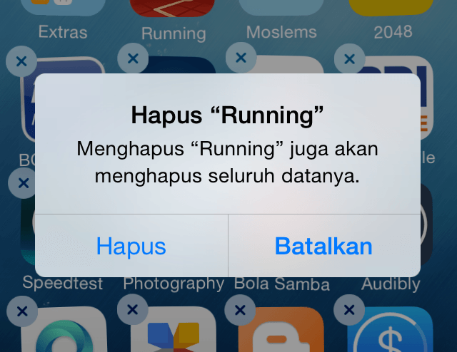 Delete Aplikasi Tidak Terpakai