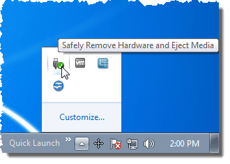 Safely Remove VS Eject USB