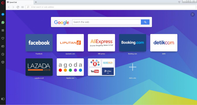 Menggunakan Browser Opera