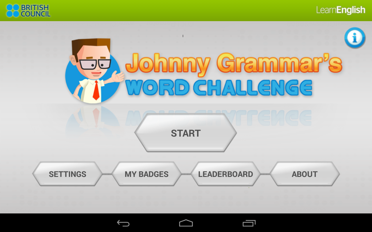 Johnny Grammar's Word Challenge