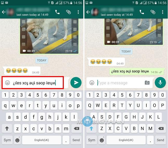 Cara Mudah Buat Tulisan Terbalik Di Aplikasi WhatsApp