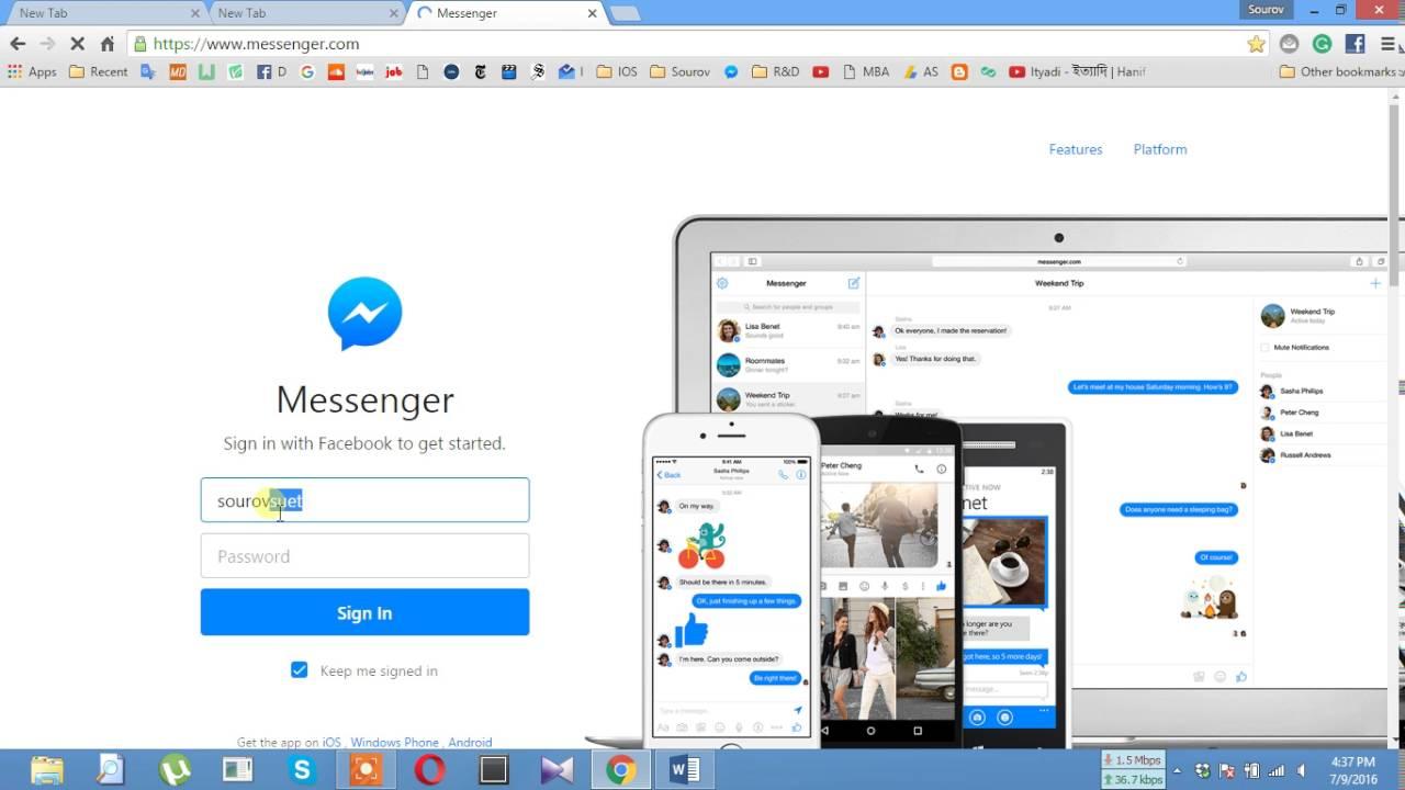 Cara Mudah Gunakan Facebook Messenger di Browser Chrome