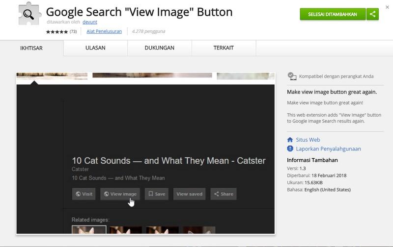 Cara Mudah Mengembalikan Tombol View Image Pada Google