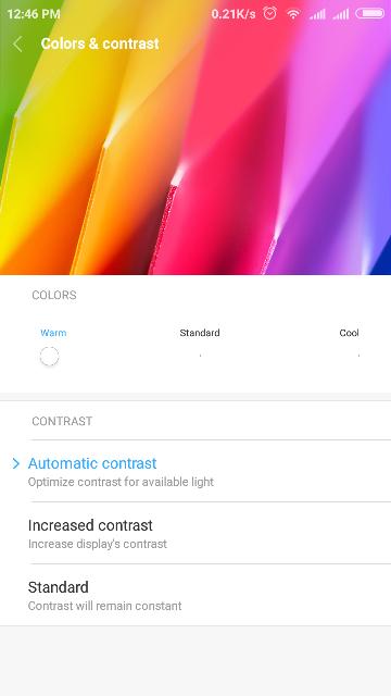 cara mengubah warna layar smatphone xiaomi