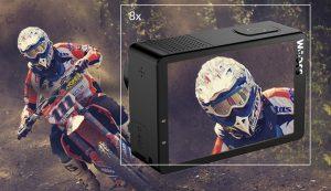 SJ8 Pro Digital Zoom 8x yang telah ditingkatkan